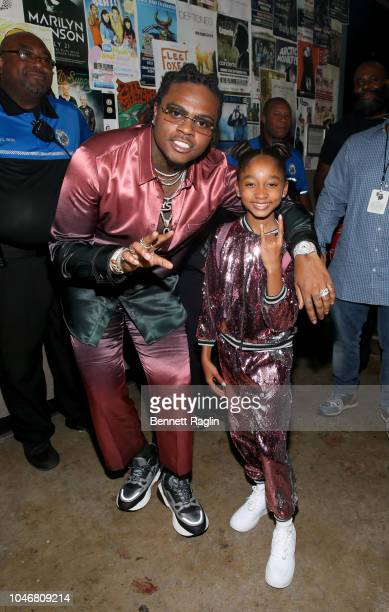 Gunna and That Girl Lay Lay are seen backstage during the BET Hip Hop Awards 2018 at Fillmore Miami Beach on October 6 2018 in Miami Beach Florida
