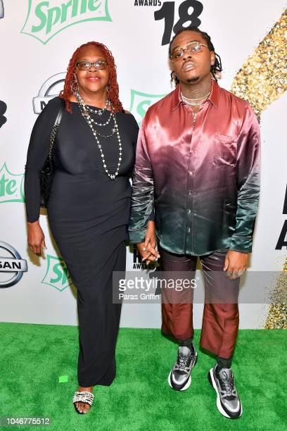 Gunna arrives at the BET Hip Hop Awards 2018 at Fillmore Miami Beach on October 6 2018 in Miami Beach Florida