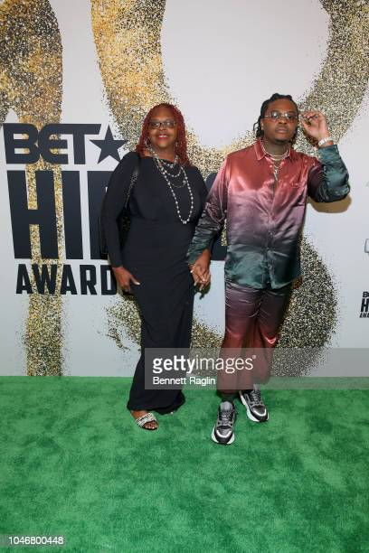 Gunna arrives at the BET Hip Hop Awards 2018 at Fillmore Miami Beach on October 6 2018 in Miami Beach Florida
