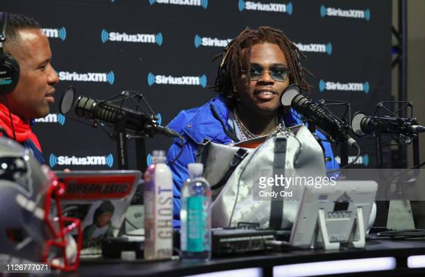 Gunna attends SiriusXM at Super Bowl LIII Radio Row on February 01 2019 in Atlanta Georgia
