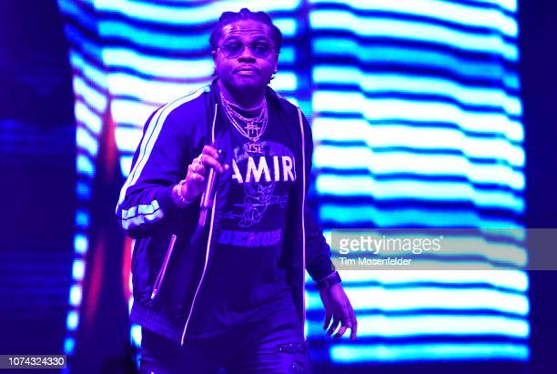 Gunna performs during the Astroworld tour at ORACLE Arena on December 16 2018 in Oakland California