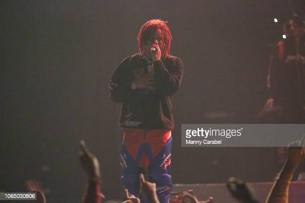 Gunna performs on stage during the ASTROWORLD Wish You Were Here Tour at Prudential Center on November 24 2018 in Newark New Jersey
