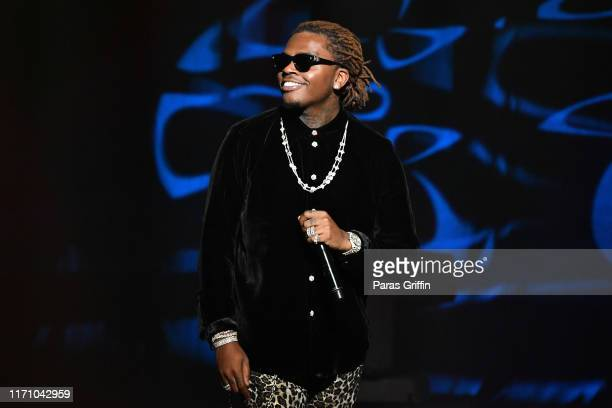 Gunna performs onstage during The 2019 BMI RB/HipHop Awards at Sandy Springs Performing Arts Center on August 29 2019 in Sandy Springs Georgia