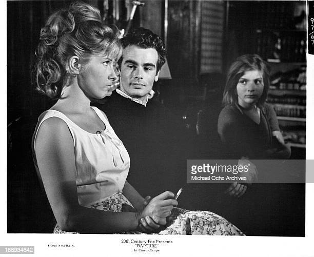 Gunnel Lindblom Dean Stockwell and Patricia Gozzi in a scene from the film 'Rapture' 1965