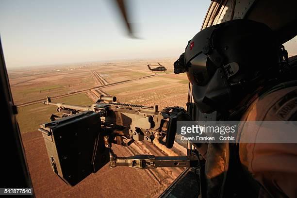 Gunner on Black Hawk Helicopter
