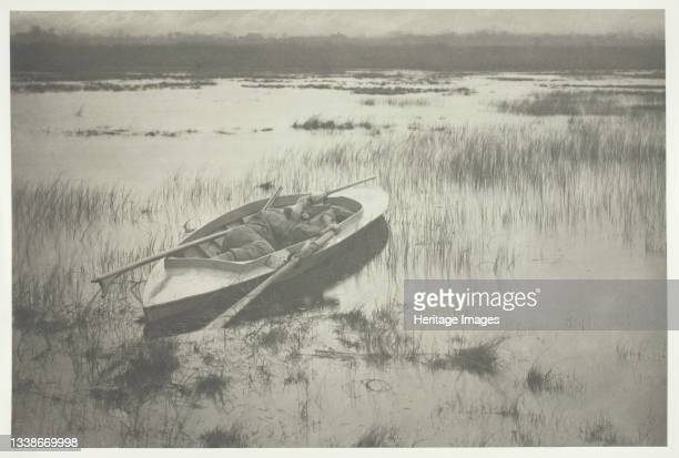 Gunner Working Up to Fowl, 1886. A work made of platinum print, pl. Xix from the album 'life and landscape on the norfolk broads' ; edition of 200....