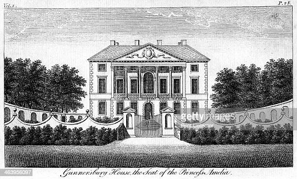 'Gunnersbury House the Seat of Princess Amelia' Gunnersbury House is a Palladian mansion designed in the mid 17th century by John Webb soninlaw and...