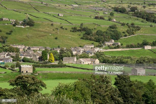 Gunnerside village in the Yorkshire Dales, England.