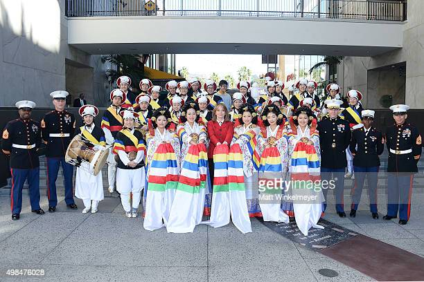 Gunnery Sergeant Dexter Brown, Gunnery Sergeant Jeremy Johnson, Members of the PAVA Korean Traditional Band, actress Deidre Hall, Lieutenant Colonel...