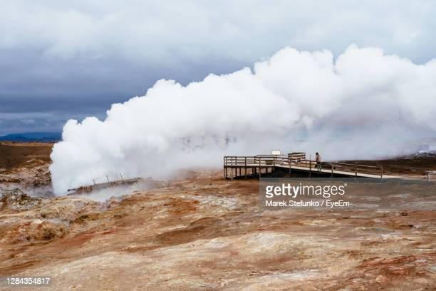 gunnuhver hot springs on iceland - marek stefunko stock pictures, royalty-free photos & images