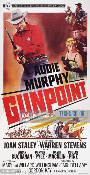 Gunpoint poster US poster art top left Audie Murphy right second from top Joan Staley 1966