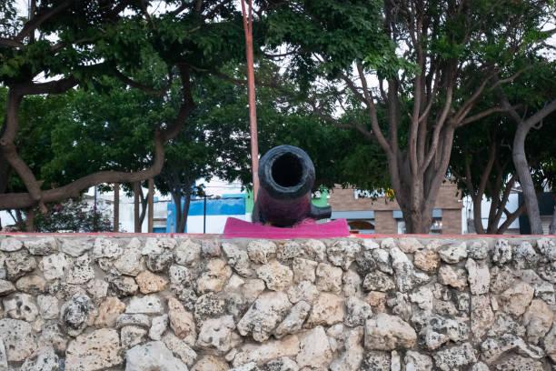 A Gunpowder Cannon in Riohacha's Public Park