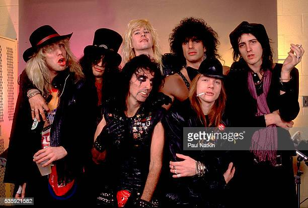 Guns and Roses with Alice Cooper and Kane Roberts of the Alice Cooper Band at the UIC Pavillion in Chicago Illinois August 21 1987