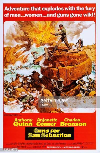 Charles Bronson Anthony Quinn Anjanette Comer on poster art 1968