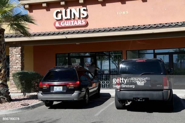 Guns Guitars a gun shop where suspected Las Vegas gunman Stephen Paddock allegedly purchased firearms October 2 2017 in Mesquite Nevada Paddock...