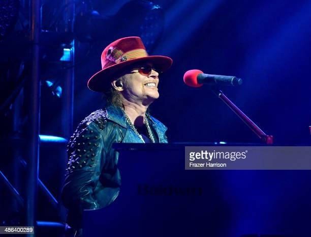 Guns N' Roes Singer Axl Rose performs at the 6th Annual Revolver Golden Gods Award Show at Club Nokia on April 23 2014 in Los Angeles California