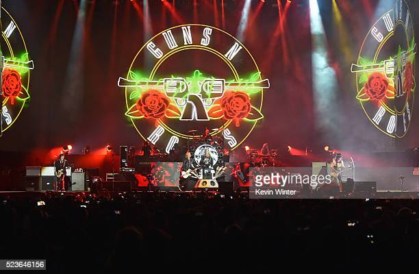 Guns N' Roses perform onstage during day 2 of the 2016 Coachella Valley Music Arts Festival Weekend 2 at the Empire Polo Club on April 23 2016 in...