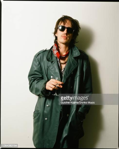 Guns N' Roses, photo shoot at Roppongi Prince Hotel in Tokyo, Japan, December 1988. Izzy Stradlin .