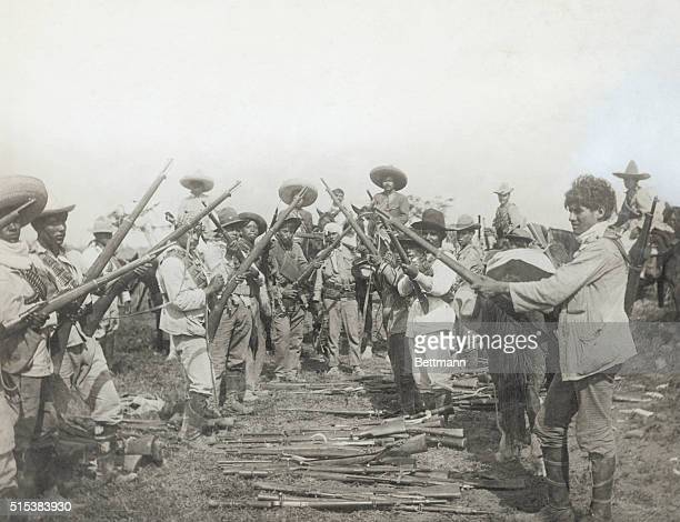 Guns of Pancho Villa's adherents captured by Carranza forces Villa's uprising against Venustiano Carranza was successfully squelched