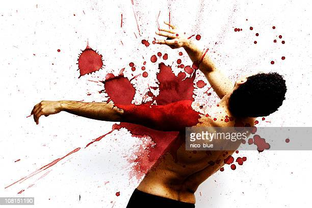 Gunshot victim (graphic)