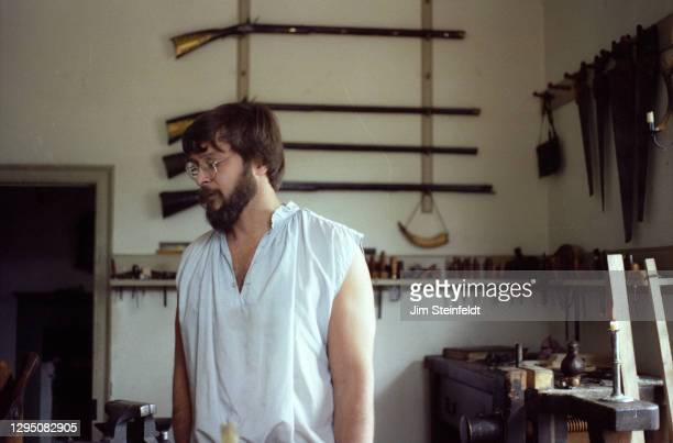 Gunsmith in Colonial Williamsburg in Williamsburg, Virginia on November 1, 1981.