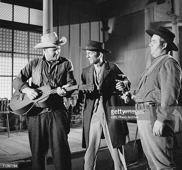 'Gunsmoke' episode The Guitar featuring Charles Gray Aaron Spelling and Jacques Aubuchon Image dated May 11 1956