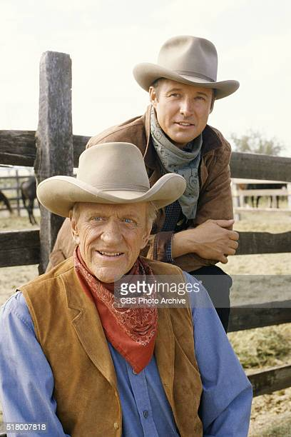 Gunsmoke One Mans Justice a madeforTV movie featuring Bruce Boxleitner and James Arness Image dated September 27 1993 Original broadcast date...