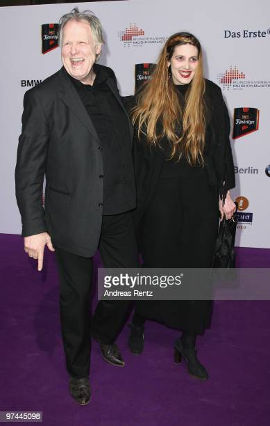 Gunter Gabriel and daughter LisaMarie arrive at the Echo award 2010 at Messe Berlin on March 4 2010 in Berlin Germany