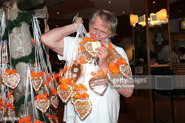 Gunter Gabriel during a Bavarian Evening ahead of the Kaiser Cup 2015 on July 10 2015 in Bad Griesbach near Passau Germany