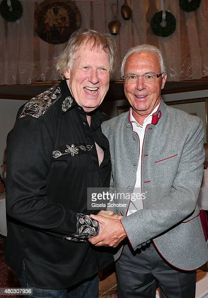 Gunter Gabriel Franz Beckenbauer during a Bavarian Evening ahead of the Kaiser Cup 2015 on July 10 2015 in Bad Griesbach near Passau Germany