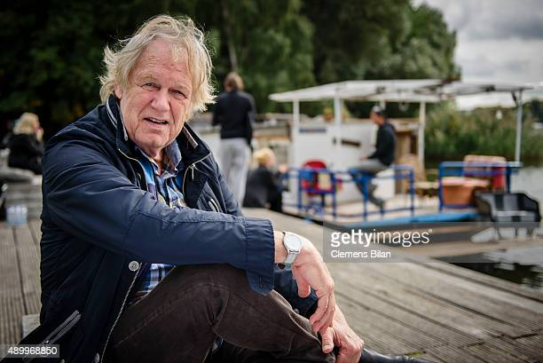 Gunter Gabriel on set during the shooting for the new local production 'Kaept'n Kasi Auf hoher Spree' by TV channel HISTORY on September 23 2015 in...