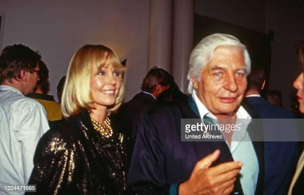 Gunter Sachs and wife Mirja circa 1991