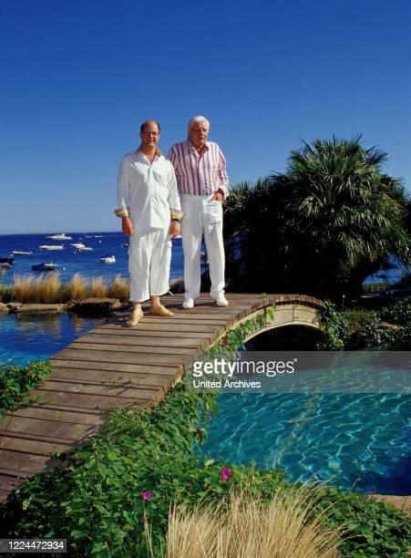Gunter Sachs with his son Claus Alexander in Sankt Tropez, France 2004.