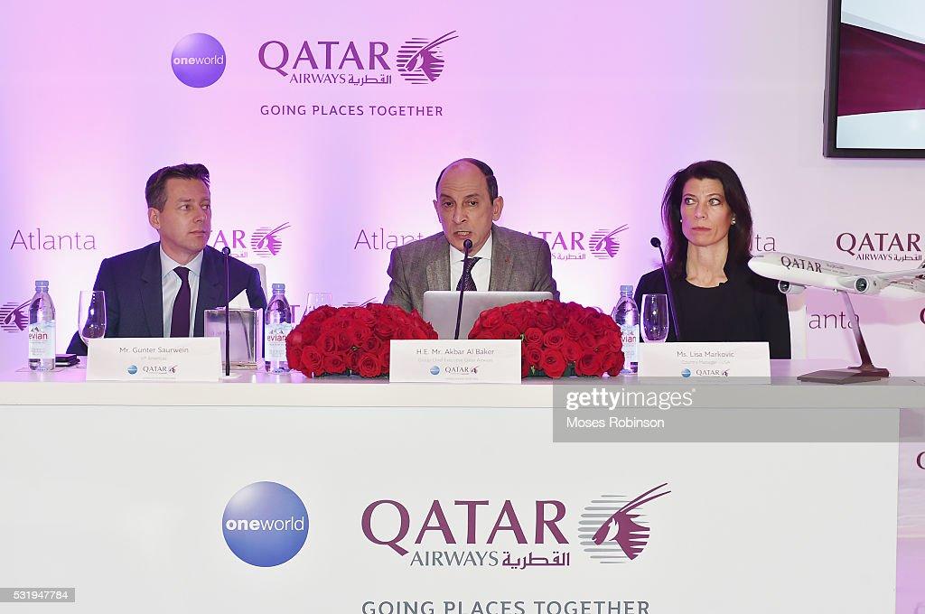 Gunter Saurwein, H E  Akbar Al Baker, Group Chief Executive