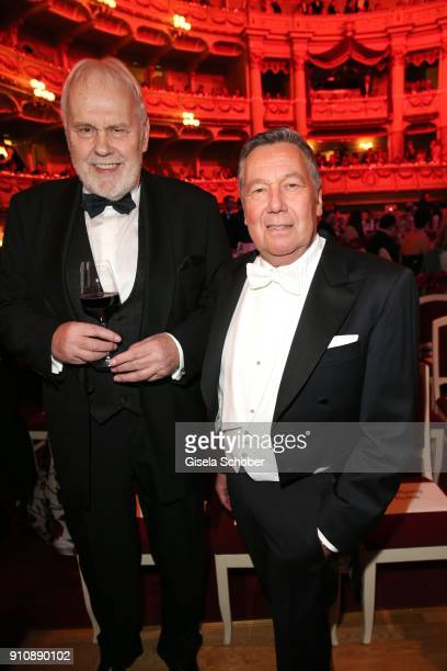 Gunther Emmerlich and Roland Kaiser during the Semper Opera Ball 2018 at Semperoper on January 26 2018 in Dresden Germany