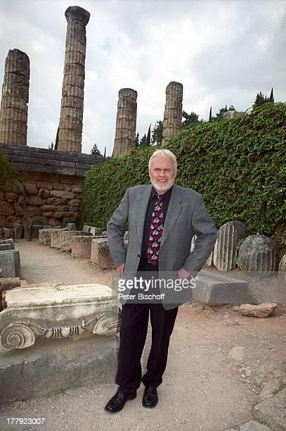 """Gunther Emmerlich, Landgang, ARD-Show """"Zauberhafte Heimat"""", Ruine """"Apollo-Tempel"""", Delphi, Griechenland, Europa, M i t t e l m e e r - K r e u z f a..."""