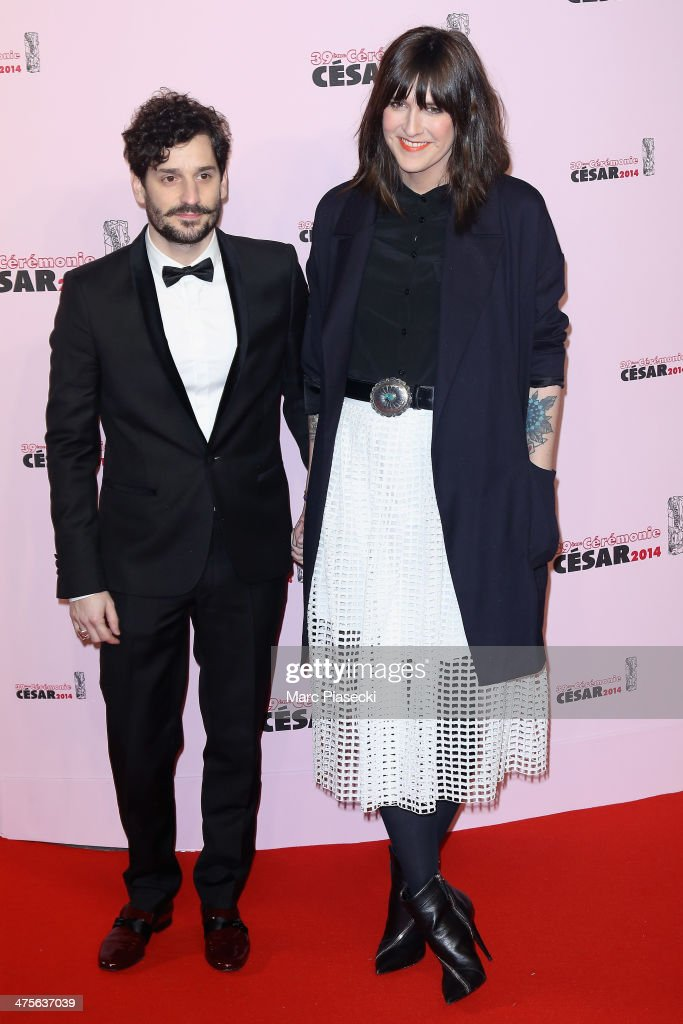 Gunther Love and Daphne Burki arrive for the 39th Cesar Film Awards 2014 at Theatre du Chatelet on February 28, 2014 in Paris, France.