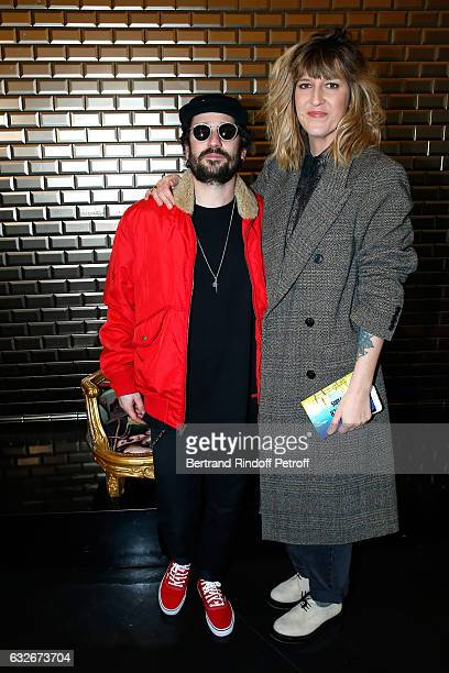 Gunther Love and Daphne Burki attend the Jean Paul Gaultier Haute Couture Spring Summer 2017 show as part of Paris Fashion Week on January 25 2017 in...