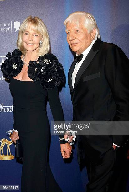 Gunther Sachs and wife Mirja Sachs arrive for the Bambi Awards 2009 at the Metropolis hall at Filmpark Babelsberg on November 26 2009 in Potsdam...