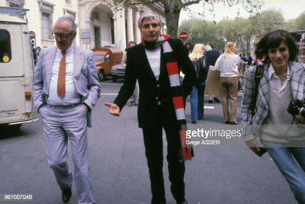 Gunther Sachs lors du procès de Christina Von Opel le 28 avril 1980 à AixenProvence France