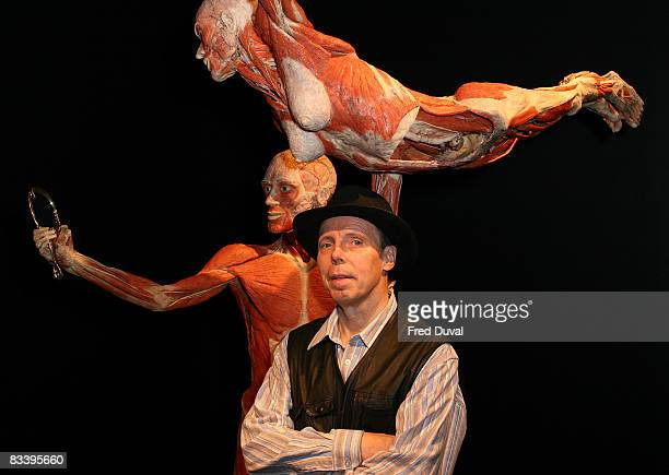 Gunther Von Hagens at the Body Worlds The Mirror of Time exhibition at the O2 on October 24 2008 in London England