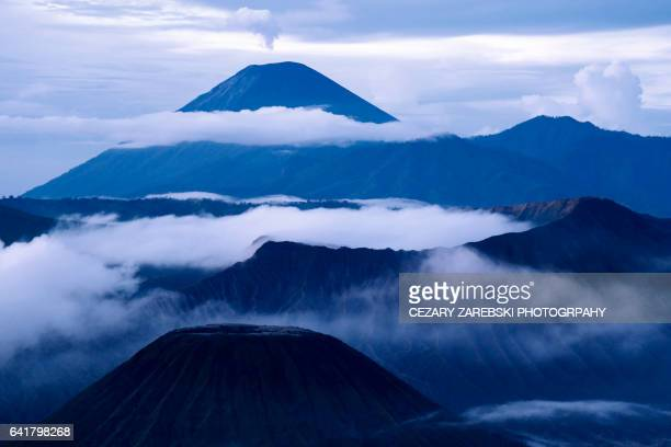 gunung bromo volcano indonesia - bromo crater stock photos and pictures