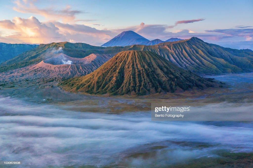 Gunung Bromo Volcano On Java Island High Res Stock Photo
