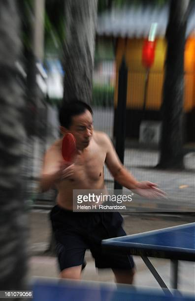 Guo Guang Yi enjoys a spirited game of ping pong at a local ping pong park in downtown Beijing Ping pong is as popular in China as baseball is in the...