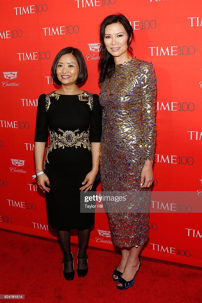Guo Pei and Wendi Deng attend the 2016 Time 100 Gala at Frederick P. Rose Hall, Jazz at Lincoln Center on April 26, 2016 in New York City.