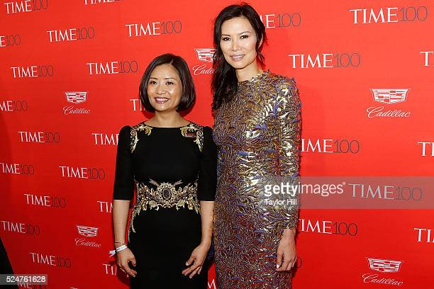 Guo Pei and Wendi Deng attend the 2016 Time 100 Gala at Frederick P Rose Hall Jazz at Lincoln Center on April 26 2016 in New York City