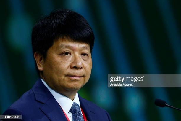 Guo Ping rotating chief executive officer of Huawei Technologies Co attends 'The St Petersburg International Economic Forum' in Saint Petersburg...