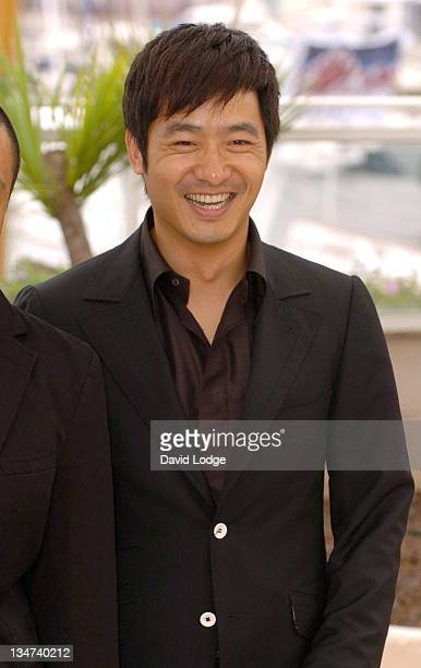 """Guo Xiaodong during 2006 Cannes Film Festival - """"Summer Palace"""" - Photocall at Palais du Festival in Cannes, France."""