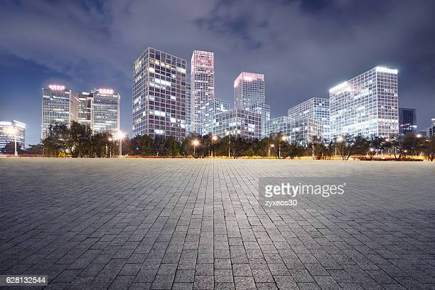 guomao business district of Beijing,China - East Asia,auto advertising background,