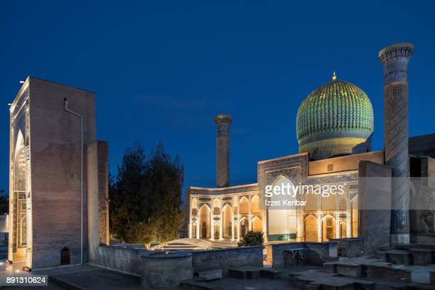 Gur Amir Mausoleum belongint to Tamerlane, at the blue hour, Samarkand, Uzbekistan